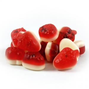 Erdbeer mit Vanilleschaum